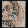 Oldenburg: 1862, Hauswappen 3 Gr. seltener Durchstich 10, sauber gestempelt