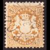 "Bayern: 1875, Staatswappen 10 Kr. (zentrisch gestempelt ""Garching"")"