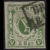 Bremen: 1859, Staatswappen 5 Sgr. gelbgrün, geschnitten