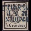 Hannover: 1860, Posthorn ½ Gr.
