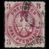 Preussen: 1865, Adler 3 Pfg. in der seltenen Farbe dunkelrosalila