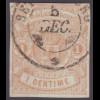 Luxemburg: 1859, Wappen 1 C. hellbraun (ordentliche sauber gestempelte Marke)