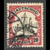 Kiautschou: 1905, 1905/19, Kaiserjacht mit WZ 20 C. (gepr. BPP)