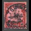 Kiautschou: 1905/19, Kaiserjacht mit WZ 40 C. (gepr. BPP)