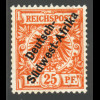 DSW: 1897, Krone/Adler 25 Pfg. (nicht mehr verausgabter Wert, Neugummi)