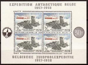 Belgien: 1957, Blockausgabe Geophysikalisches Jahr (M€ 150,-)