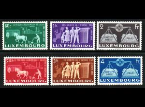 Luxemburg: 1951, Europäische Einigung (Europa-Cept Mitläufer, M€ 200,-)