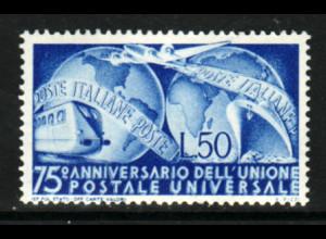 Italien: 1949, Weltpostverein