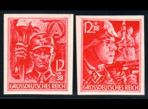 1945, SA/SS ungezähnt aus unfertigen Beständen (M€ 90,-)
