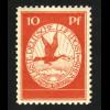 1912, Flugpost am Rhein und Main 10 Pfg. (postfrisch)