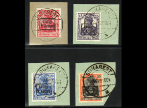 Militärverwaltung in Rumänien: 1918, Überdruck-Ausgabe 9. Armee