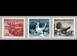 Liechtenstein: 1946, 1. Jagdserie