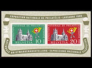 Schweiz: 1955, Blockausgabe Lausanne (M€ 110,-)