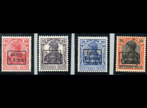 Militärverwaltung in Rumänien: 1918, Rumänien: Überdruckausgabe 9. Armee