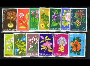 Sierra Leone: 1963, Freimarken Blumen