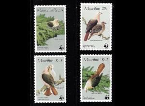 Mauritius: 1985, Rosentauben, (WWF-Ausgabe)