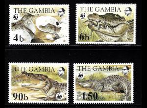 Gambia: 1984, Nilkrokodil (WWF-Ausgabe)