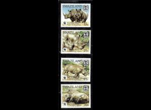 Swaziland: 1987, Breitmaulnashorn (WWF-Ausgabe)