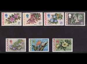 Bermuda-Inseln: 1975, Freimarken: Blumen (Ergänzungswerte)
