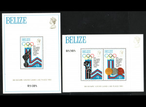 Belize: 1979, Blockpaar Winterolympiade Lake Placid