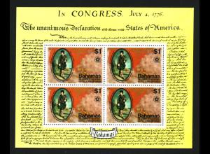 Bahamas: 1976, 200 Jahre Unabhängigkeit der USA