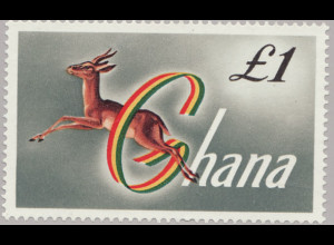 Ghana: 1961, Gazelle £ 1,-