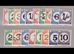 Ghana: 1958/70, Portomarken