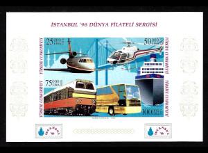 Türkei: 1996, Blockausgabe Briefmarkenausstellung ISTANBUL 96