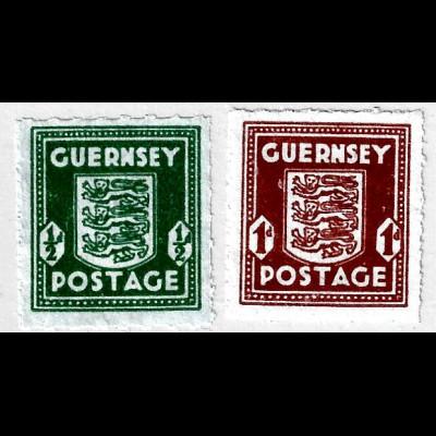 Guernsey 1942, Wappenzeichnung auf Banknotenpapier