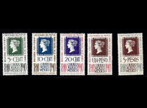 Mexiko: 1940, 100 Jahre Briefmarken (nur Flugpost)