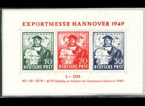Bizone: 1949, Blockausgabe Exportmesse (M€ 120,-)