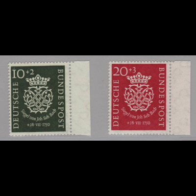 Bundesrepublik: 1950, Bachsiegel (gepr. Schlegel BPP)