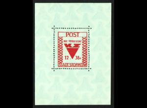 Storkow: Blockausgabe grünliches Papier