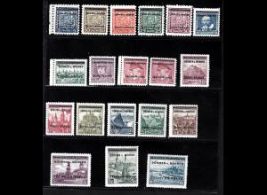 Böhmen und Mähren: 1939, Überdruckausgabe (M€ 130,-)