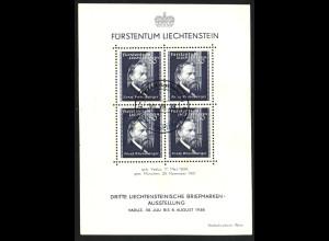 Liechtenstein: 1938, Blockausgabe 3. Briefmarkenausstellung Vaduz (Esst)