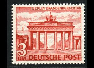 1949, Bauten I 3 DM (Hauptwert der Ausgabe, gepr. Schlegel BPP, M€ 300,-)