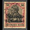 Deutsche Post in Marokko: 1905, Germania 60 Cts. auf 50 Pfg.