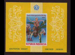 Indonesien: 1977, Blockausgabe Orchideen (ungezähnt)