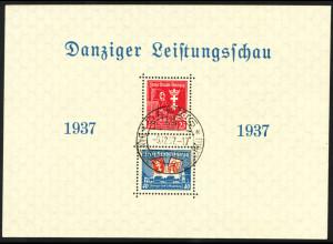 Danzig: 1937, Blockausgabe Danziger Leistungsschau