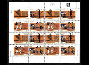 Marshall-Inseln: 1990, Weihnachten (Zusammendruckbogen mit vier Zdr.)