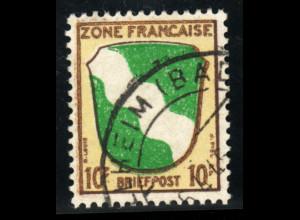 Französische Zone: 1945, Allgemeine Ausgabe: Wappen 10 Pfg. (gepr. BPP)