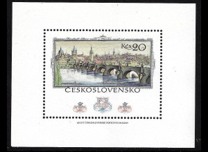 """Tschechoslowakei: 1978, Blockausg. Briefm.-Ausst. """"PRAGA"""" (Karlsbrücke)"""