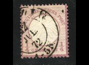 Kl. Brustschild ¼ Gr. (ordentliche Erhaltung, sign. Richter, M€ 120,-)