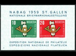 Schweiz: 1959, Blockausg. NABAG