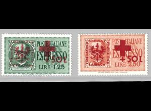 1944, Laibach Aushilfsausgabe Rotes Kreuz (Gummifehler, für Falz M€ 130,-)
