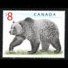 Kanada: 1997, Freimarke Grizzlybär 8 $