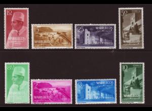Marokko: 1956, Königreich (Nordzone): Freimarken (M€ 75,-)