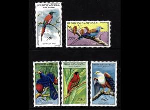 Senegal: 1960/63, Freimarken Vögel