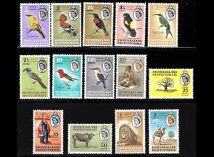 Betschuanaland: 1961, Freimarken Tiere (M€ 90,-)