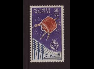 Französisch Polynesien: 1965, Fernmeldeunion UIT (Satellit Syncom, M€ 120,-)